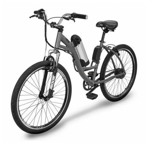 Bicicleta Elétrica Two Dogs Urbana Aro 26 Slim Cinza