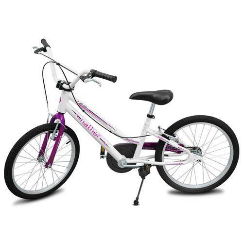 Bicicleta Feminina Aro 20 Branca e Lilás Bella