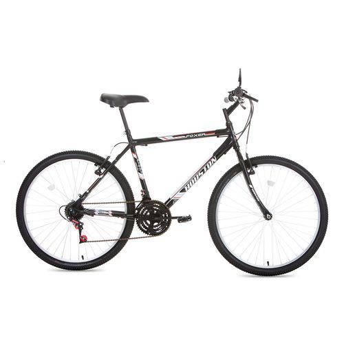 Bicicleta Foxer Hammer Preta, Aro 26, 21 Marchas, Freio V-Brake, Quadro Tamanho 20 - Houston