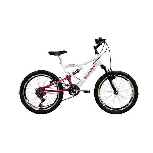 Bicicleta Full FA240 6V Aro 20 Branco/Rosa - Mormaii