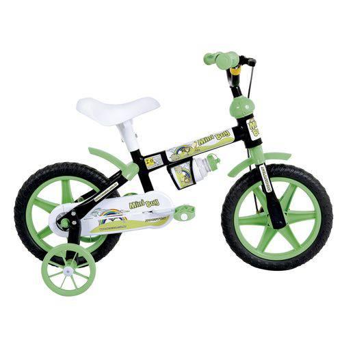 Bicicleta Infantil Aro 12 Houston Mini Boy com Rodinhas Preta