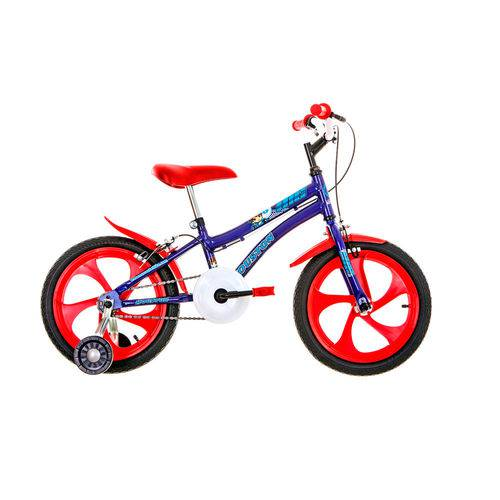 Bicicleta Infantil Houston NIC Aro 16 Monovelocidade - Azul/Vermelha