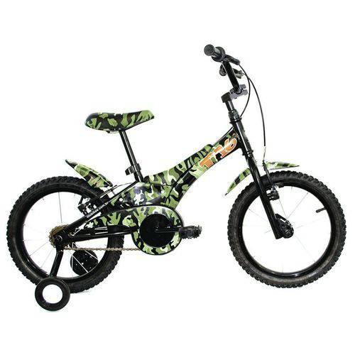 Bicicleta Infantil Tito T16 Camuflada Verde