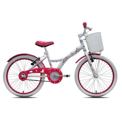 Bicicleta Infantil Tito Unilover Aro 20 C/ Cestinha - Branca
