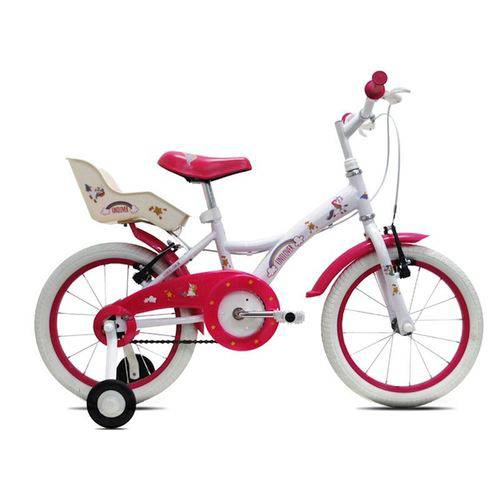 Bicicleta Infantil Tito Unilover Aro 16 C/ Porta Bonecas - Branca