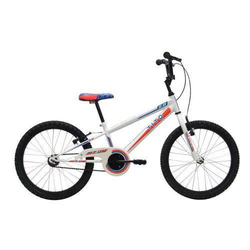 Bicicleta Infantil Tito Volt Aro 20 - Branco e Azul