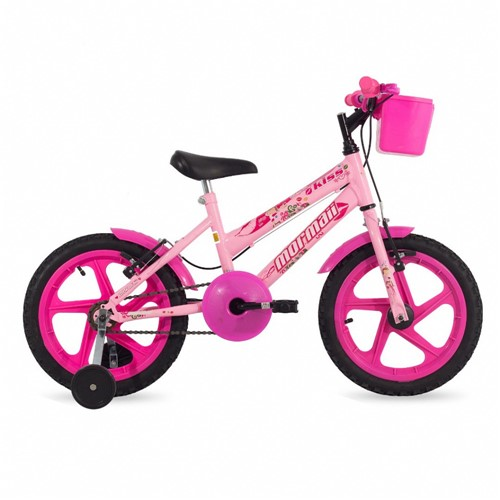 Bicicleta Kiss Mormaii Aro 16 Rosa
