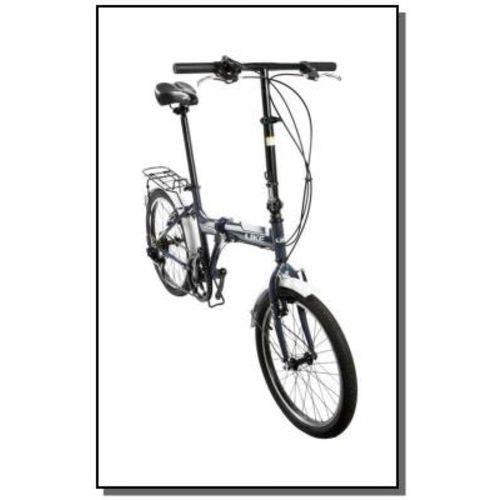 Bicicleta Like Dobrável 6 Vel. Cinza
