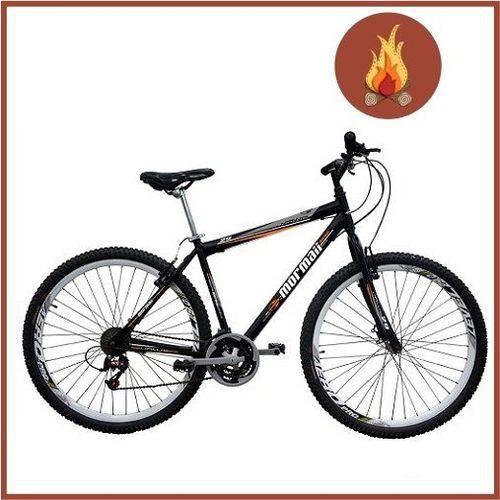 Bicicleta Mormaii Aro 29 Mountain Bike Jaws V-brake 21v Preta