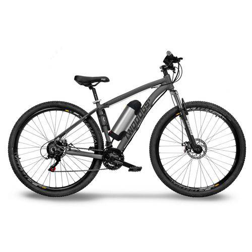 Bicicleta Two Dogs Mtb Aro 29 – Cinza – 21v – Elétrica