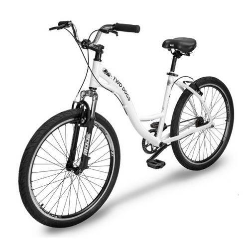 Bicicleta Two Dogs Urbana Aro 26 Slim Branca