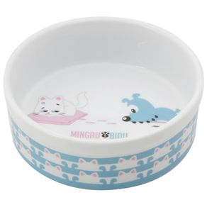 Bidu & Mingau Toy Comedouro para Pet Branco/multicor