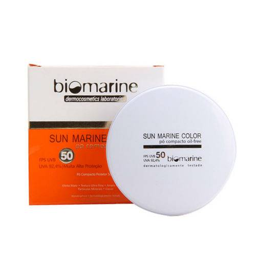 Biomarine Sun Marine Color Pó Compacto Fps50 Bronze - 12g