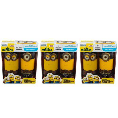 Biotropic Minions Piratas Shampoo + Condicionador 250ml (kit C/03)