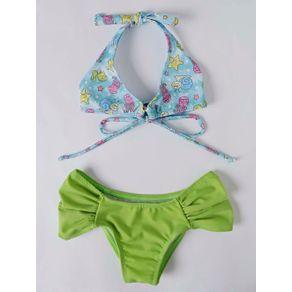 Biquini Infantil para Menina - Verde/azul 8