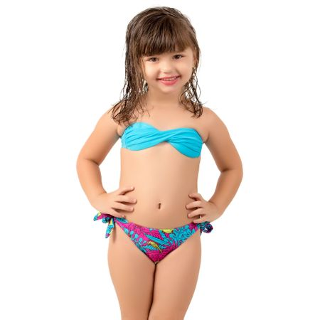 Biquíni Infantil Tomara que Caia Kamila (Azul Claro) P