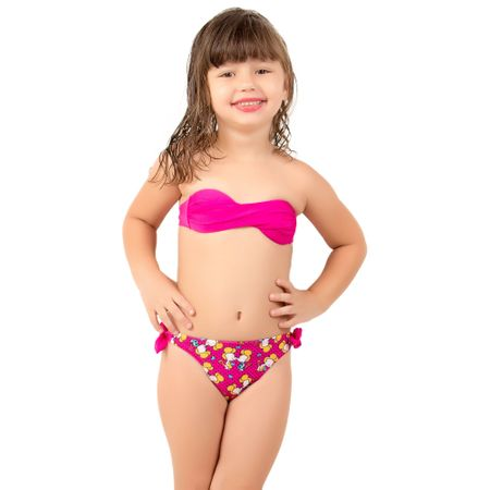 Biquíni Infantil Tomara que Caia Kamila (Rosa) P