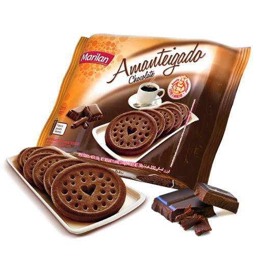 Biscoito Amanteigado Chocolate 330g - Marilan