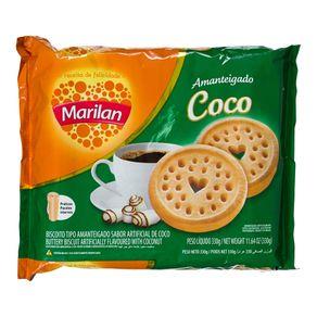 Biscoito Amanteigado Coco Marilan 330g