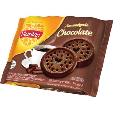 Biscoito Amanteigado Sabor Chocolate Marilan 330g