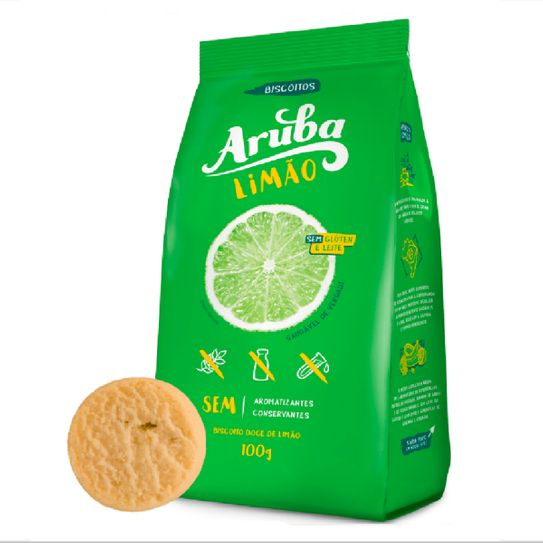 Biscoito Aruba Limão Light 100g