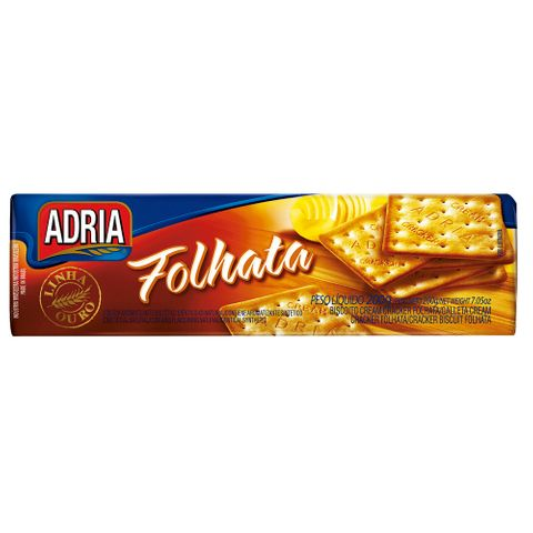 Biscoito Cream Cracker Folhata 200g - Adria