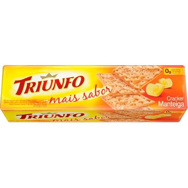 Biscoito Cream Cracker Sabor Manteiga Triunfo 200g