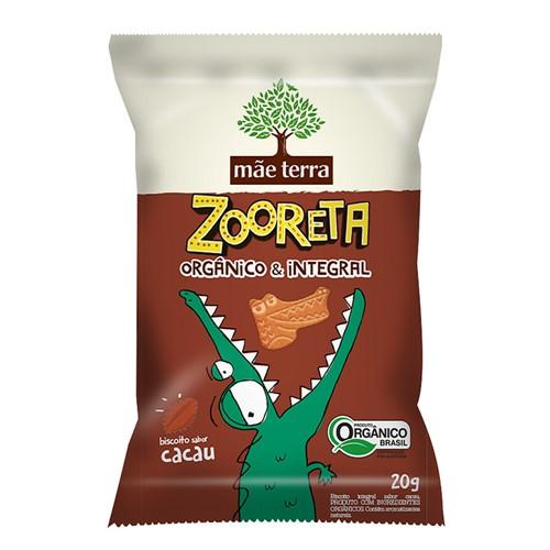 Biscoito Integral e Orgânico Zooreta Mãe Terra Cacau 20g