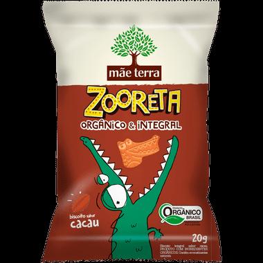 Biscoito Integral Orgânico Sabor Cacau Zooreta Mãe Terra 20g