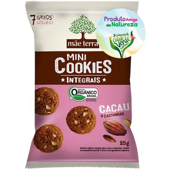 Biscoito Mãe Terra Integral Cacau & Castanha 25g