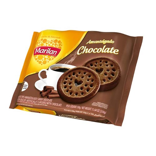 Biscoito Marilan Amanteigado Chocolate com 330g