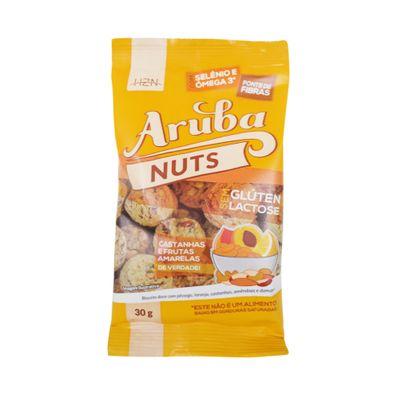 Biscoito Nuts Sem Glúten Castanhas e Frutas Amarelas 30g - Aruba