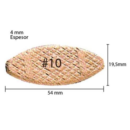Biscoito para Fresadora de Junção #10 Espessura 4 Mm - A-16938 - Makita