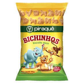 Biscoito Piraquê Doce Bichinhos 100g