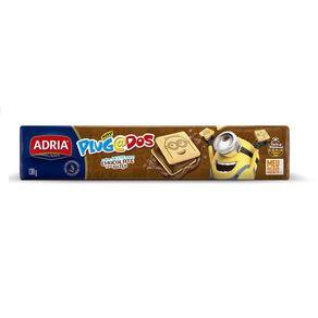 Biscoito Plugados Quadrados Sabor Chocolate Adria 140g