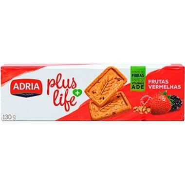 Biscoito Plus Life Intergral Frutas Vermelhas Adria 130g Biscoito Plus Life Integral Frutas Vermelhas Adria 130g