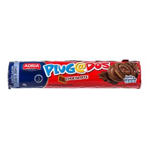 Biscoito Sabor Chocolate Plugados Adria 140g