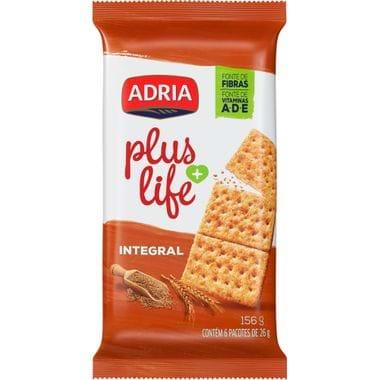 Biscoito Salgado Integral Plus Life Adria 156g
