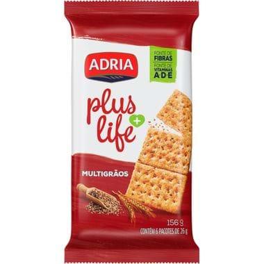 Biscoito Salgado Multigrãos Plus Life Adria 156g