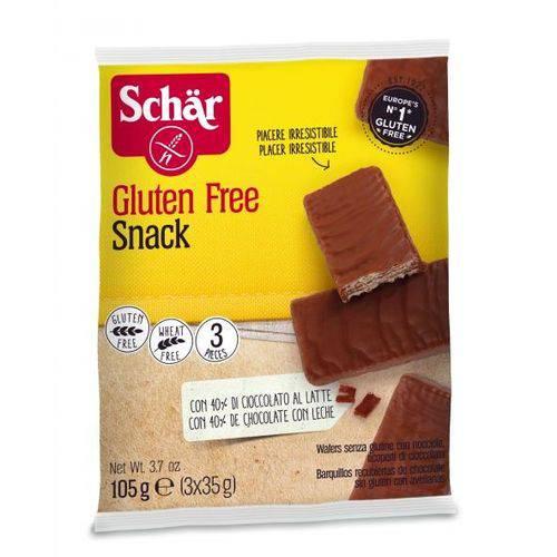 Biscoito Tipo Wafer de Avelã Coberto com Chocolate Sem Glúten 105g - Schar