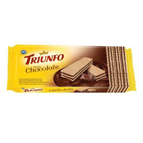 Biscoito Wafer Chocolate 115g - Triunfo