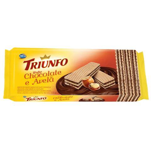 Biscoito Wafer Chocolate com Avelã 115g - Triunfo