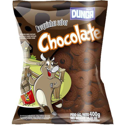 Biscoitooito Bolacha Dunga Rosq Caixa com 20 - 400gr Chocolate