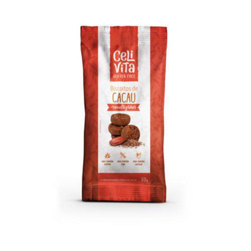 Biscoitos Multigrãos de Cacau 30g - Celivita