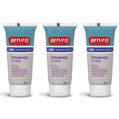 Bitufo Clinical Creme Dental Ortodontia 90g (kit C/03)