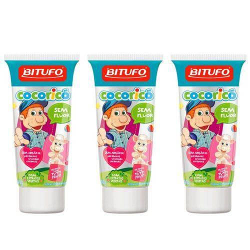 Bitufo Cocorico Gel Dental Tutti Frutti 90g (kit C/03)