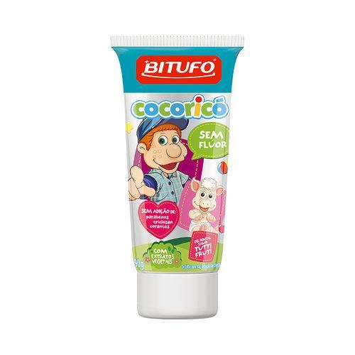 Bitufo Gel Dental Cocorico Sem Flúor T Frutti 90G
