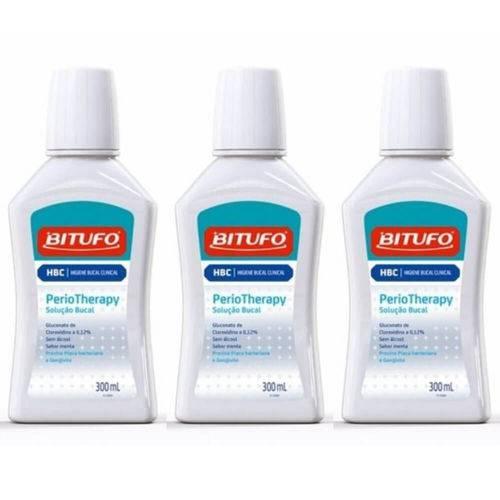 Bitufo Perio Therapy Enxaguante Bucal 300ml (kit C/03)
