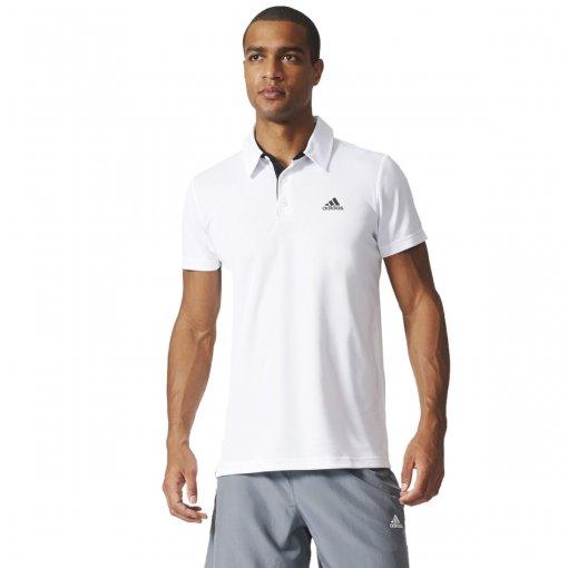 Bizz Store - Camisa Polo Masculina Adidas Fab Tennis Branca