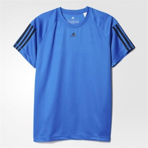 Bizz Store - Camiseta Masculina Adidas Base 3S Azul Treino